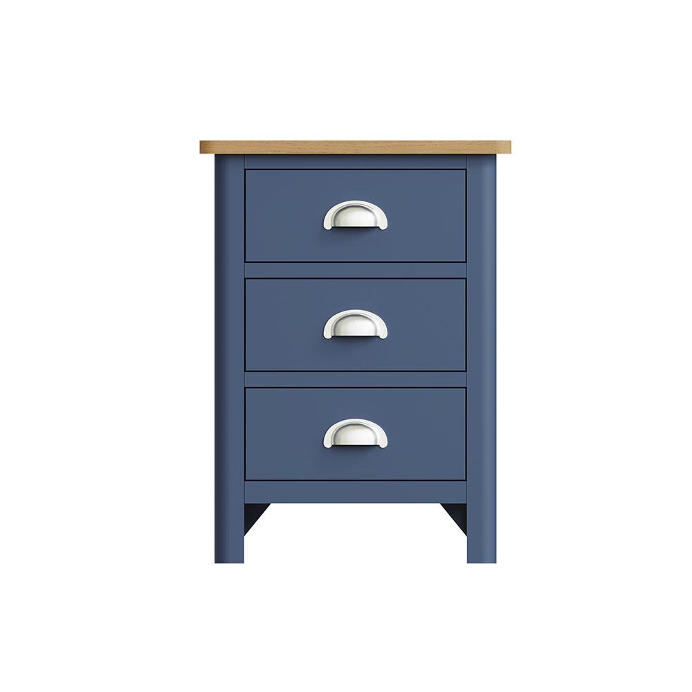 Childon Blue 3 Drawer Bedside Chest
