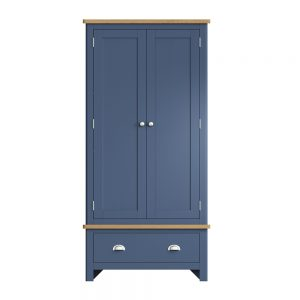 Childon Blue Wardrobe with Drawer