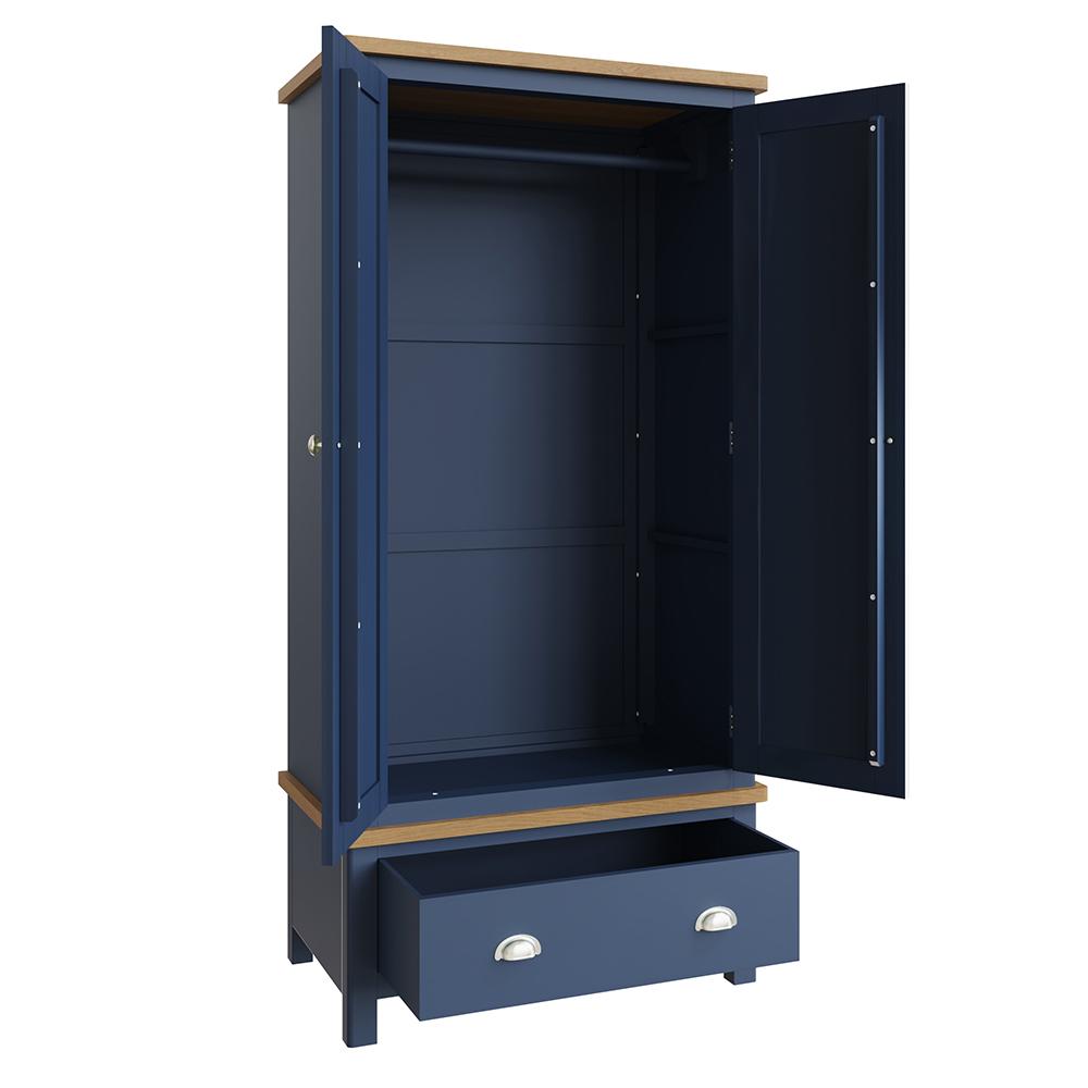 Childon Blue Wardrobe with Drawer