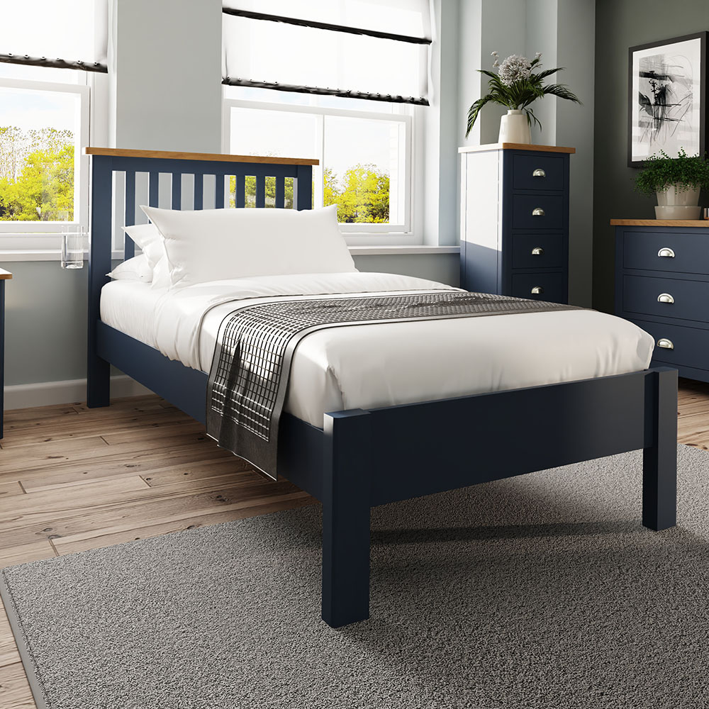 Childon Blue Single 90cm Bedstead