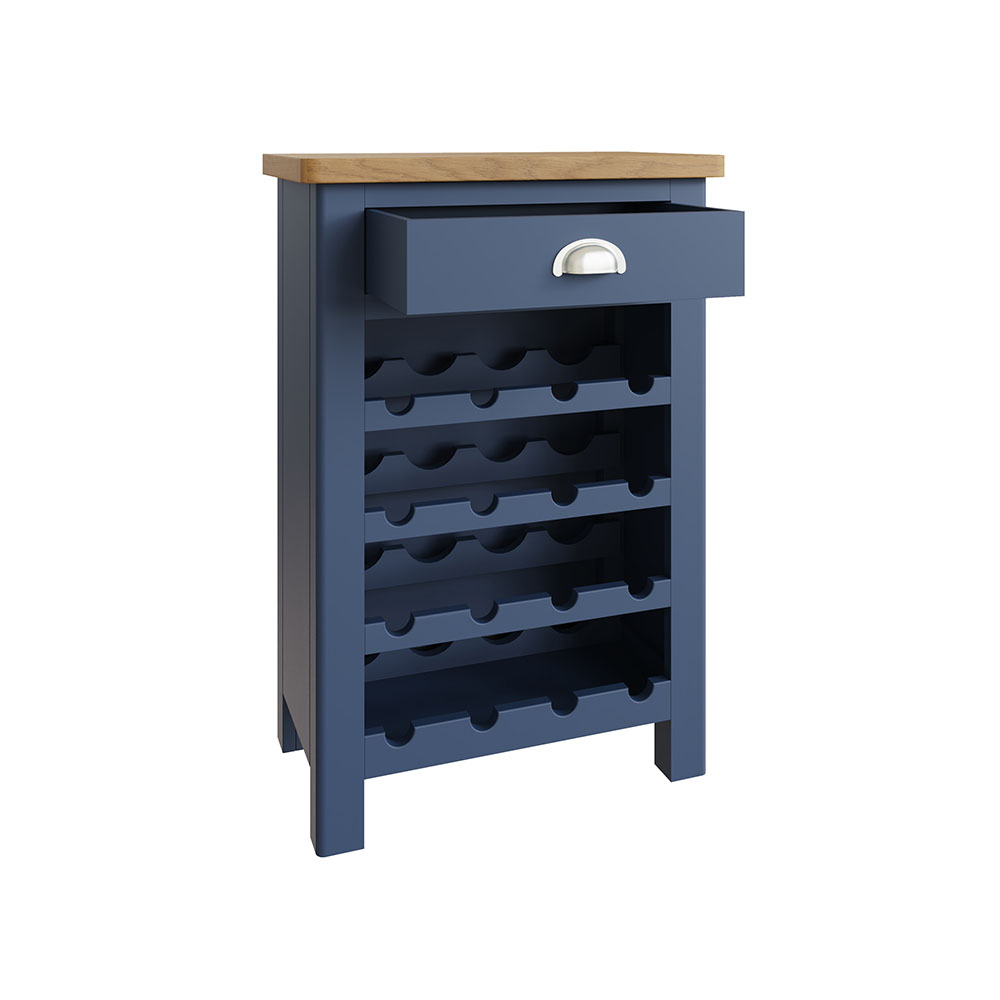 Childon Blue Wine Cabinet