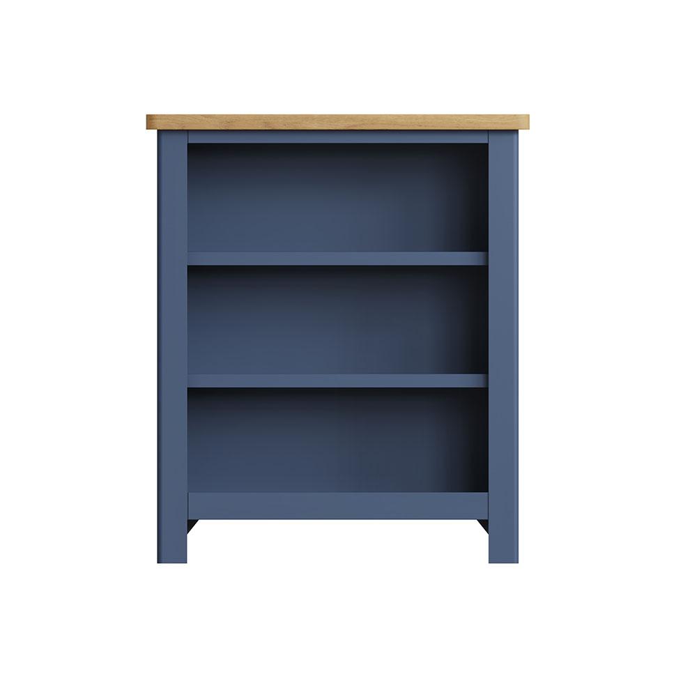 Childon Blue Small Wide Bookcase