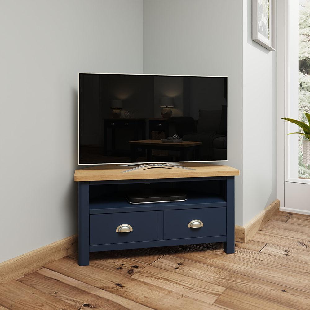 Childon Blue Corner TV Unit