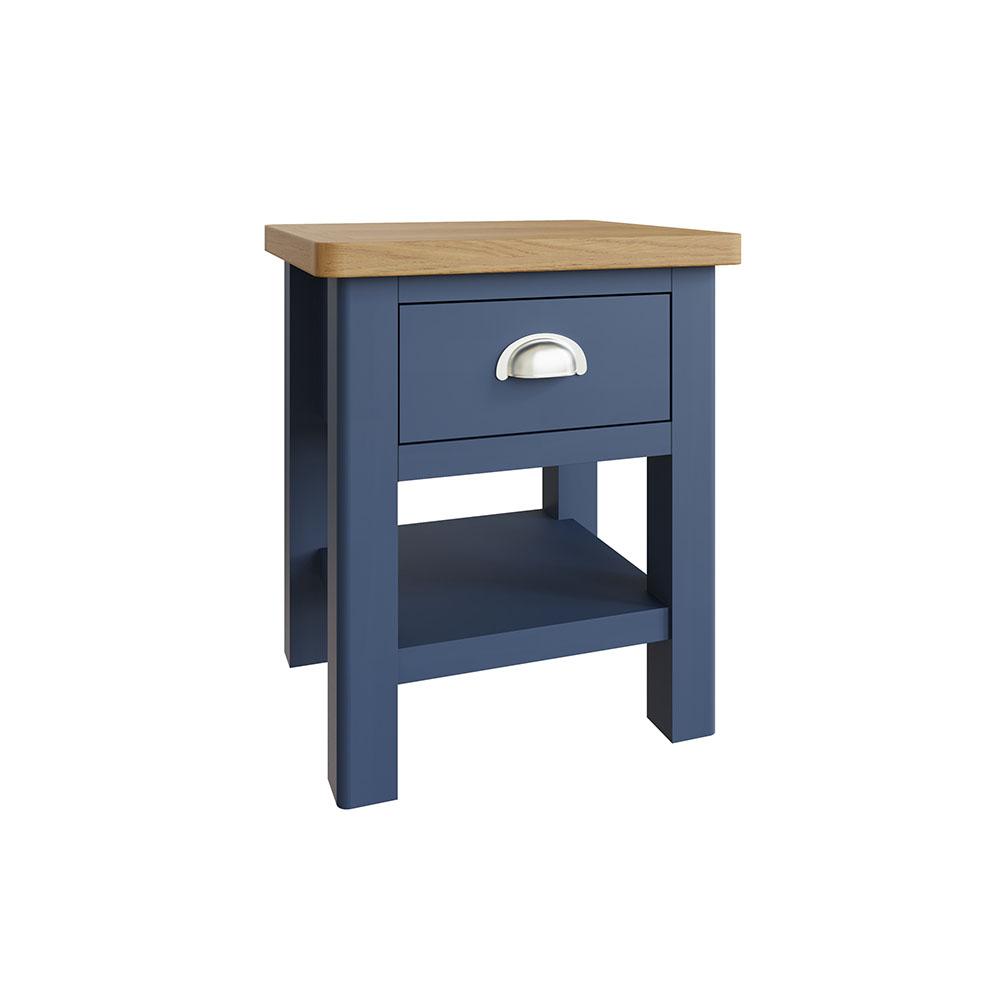 Childon Blue 1 Drawer Lamp Table
