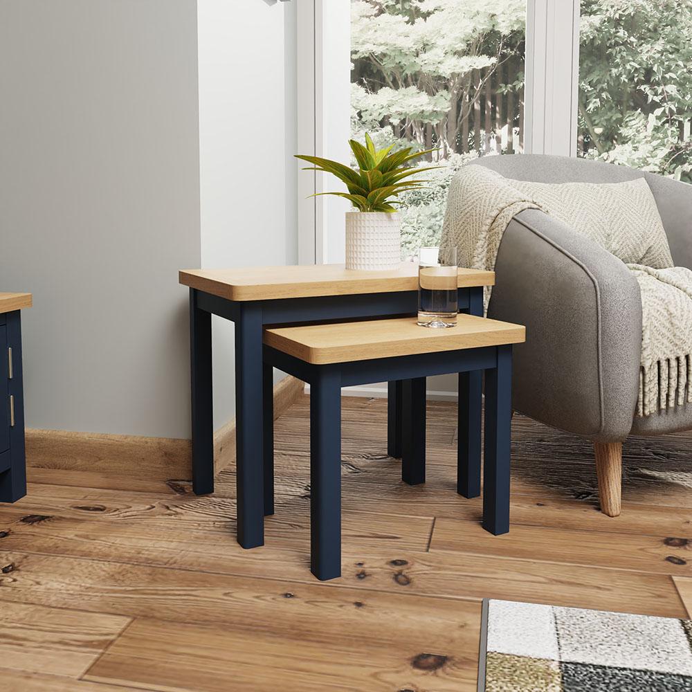 Childon Blue Nest of 2 Tables