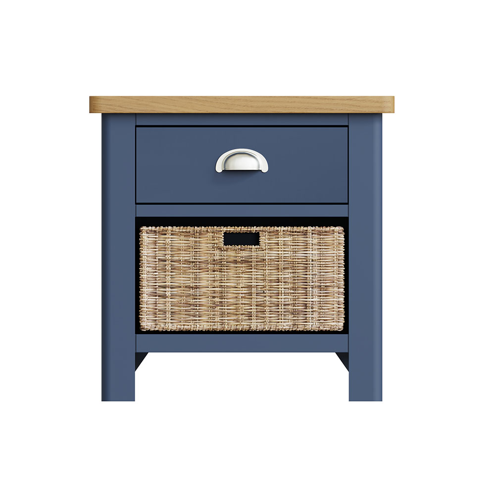 Childon Blue 1 Drawer 1 Basket Unit