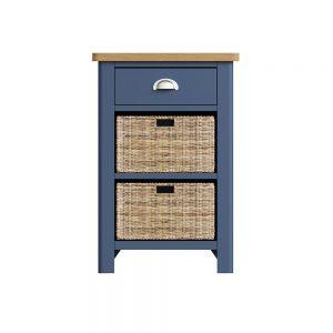 Childon Blue 1 Drawer 2 Basket Unit
