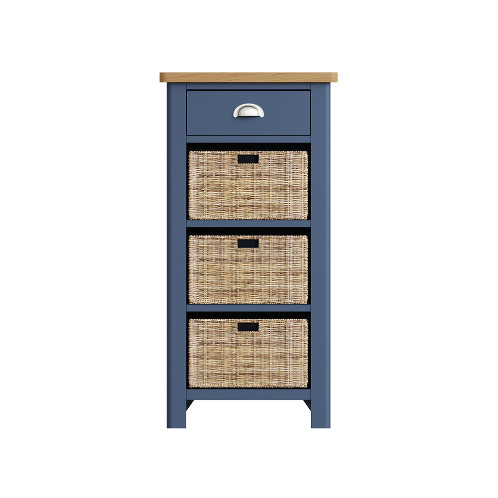 Childon Blue 1 Drawer 3 Basket Unit