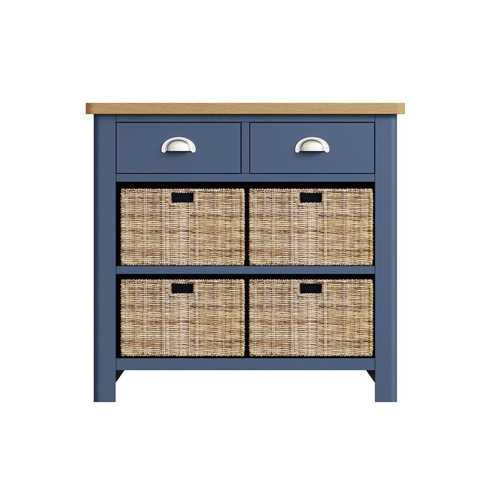Childon Blue 2 Drawer 4 Basket Unit