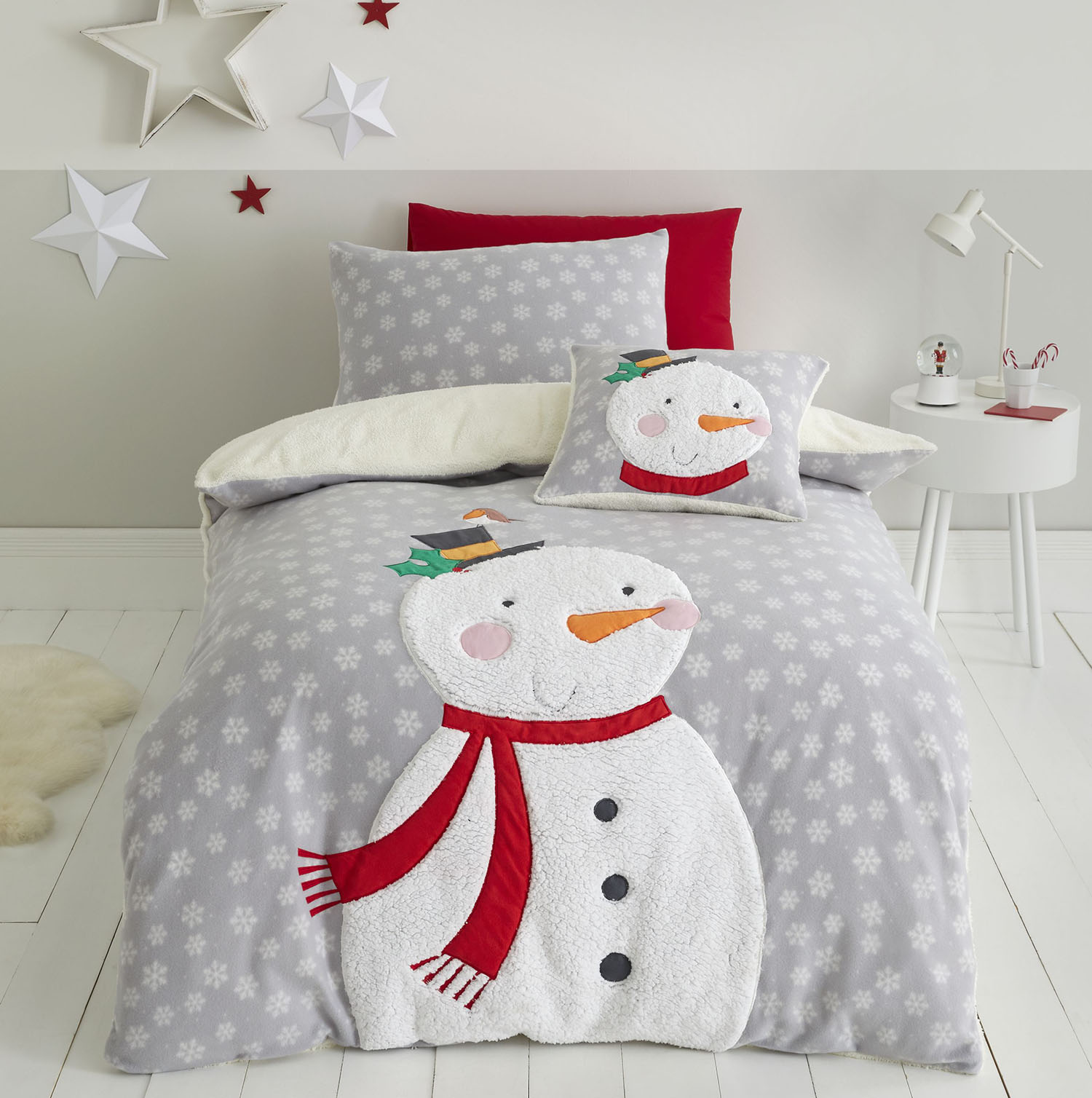 Catherine Lansfield Cosy Snowman Cushion 45 x 45