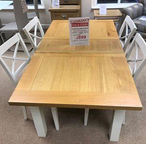 Long Island Ivory Table & 4 Slat Back Chairs