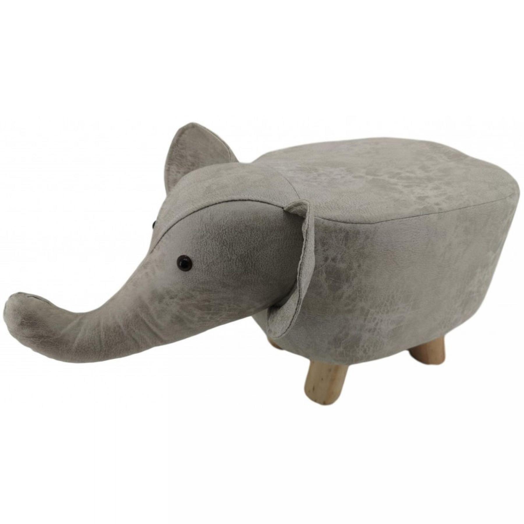 Faux Leather Children's Elephant Stool