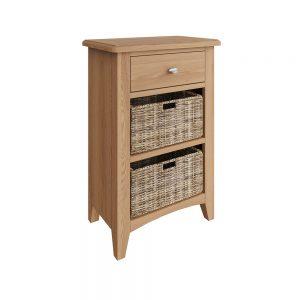 Hurstley Oak 1 Drawer 2 Basket Unit
