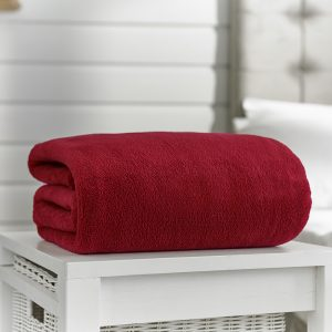 Deyongs Snuggle Touch Throw 200x240 Oxblood
