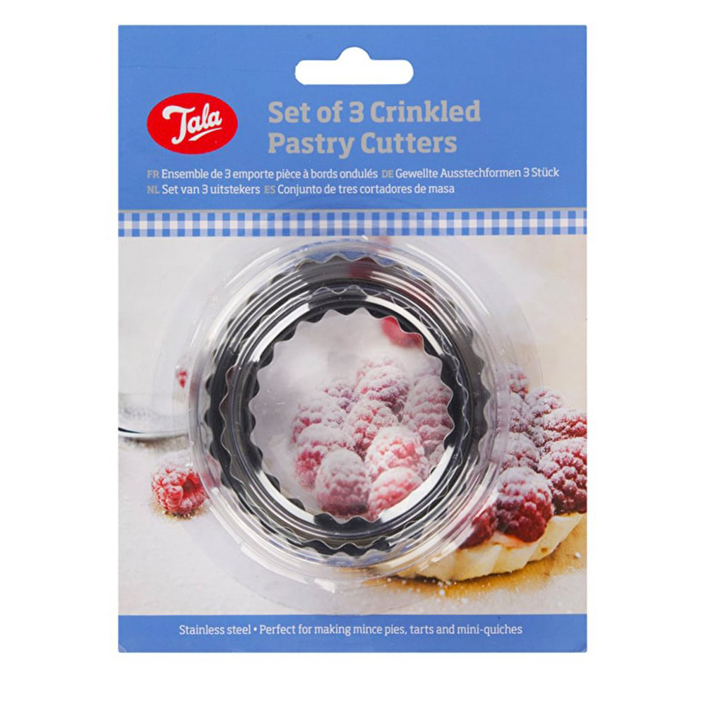Tala Pastry Cutters Crinkled Set of 3