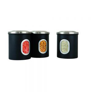 Denby Set of 3 Canisters - Black