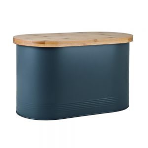 Denby Bread Bin with Bamboo Lid Grey