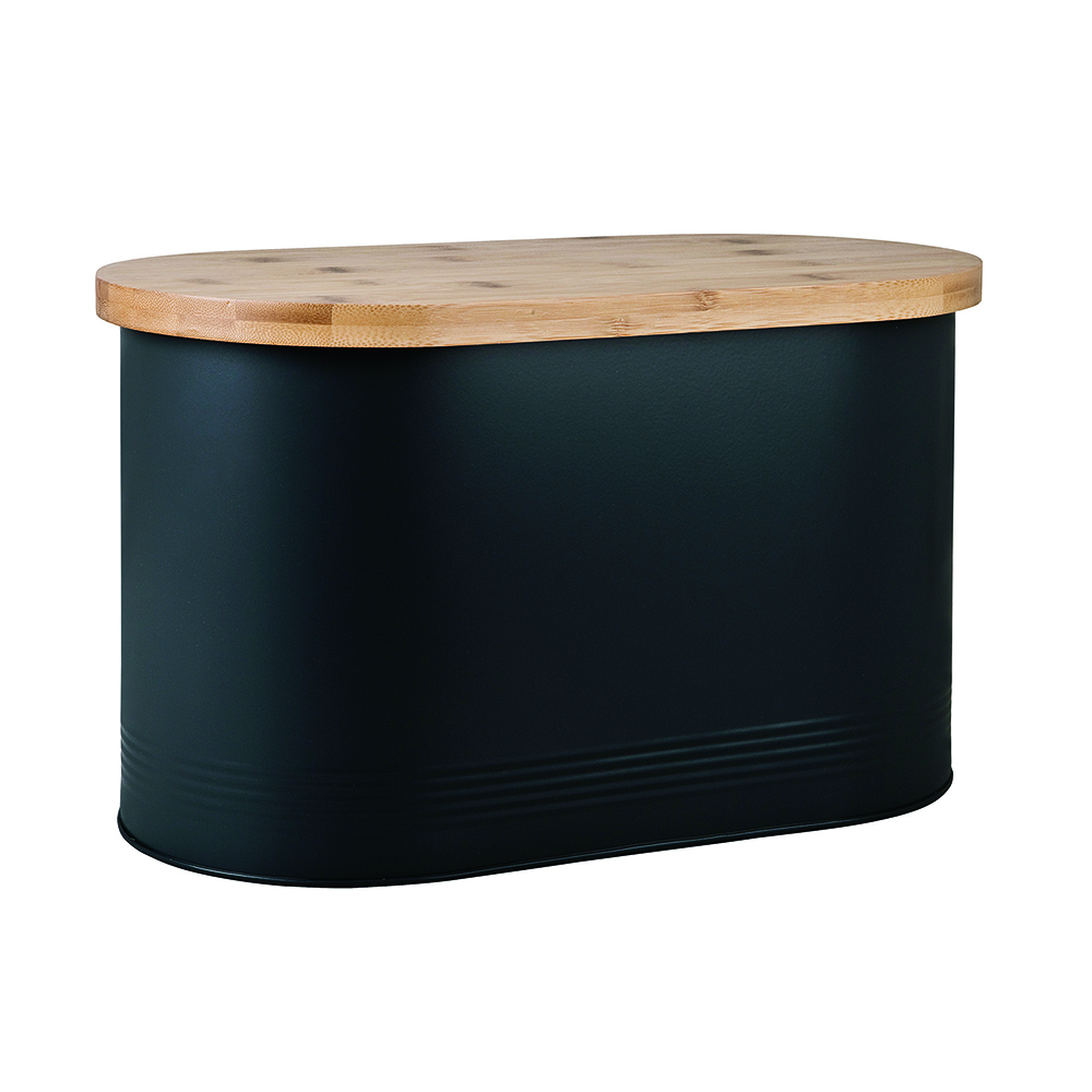 Denby Bread Bin with Bamboo Lid - Black
