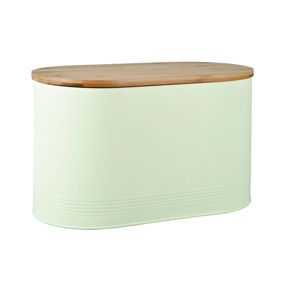 Denby Bread Bin with Bamboo Lid - Cream