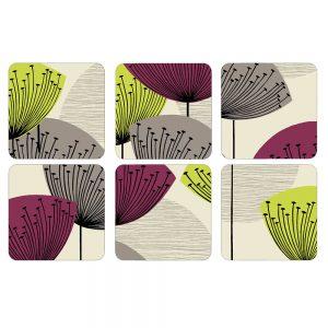 Pimpernel Dandelion Clocks Coasters Set of 6