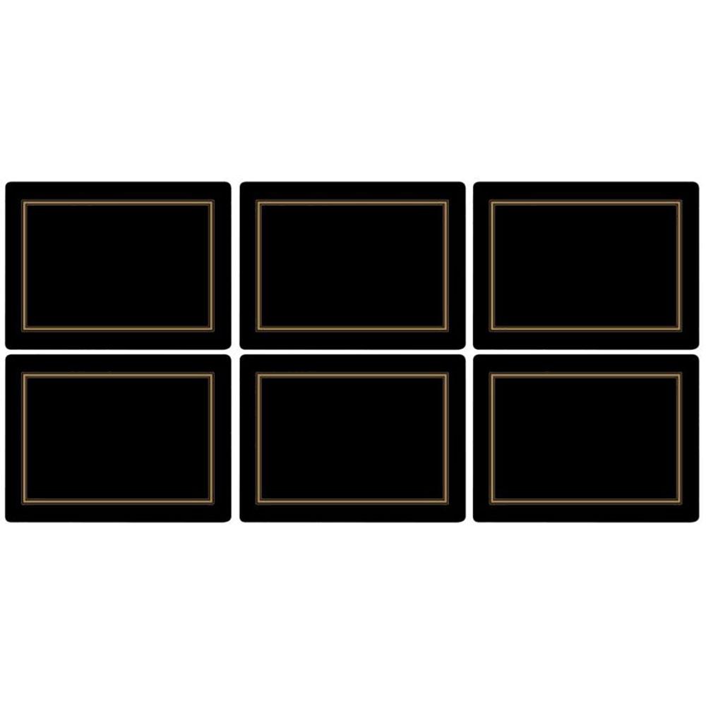 Pimpernel Classic Black Placemats Set of 6