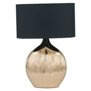 Gold Scratched Ceramic Table Lamp