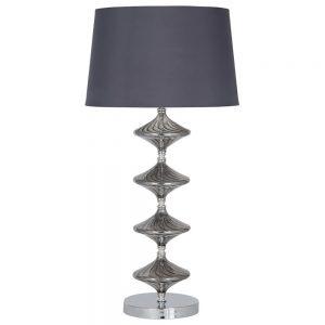 Gabby Metal & Grey Glass Table Lamp
