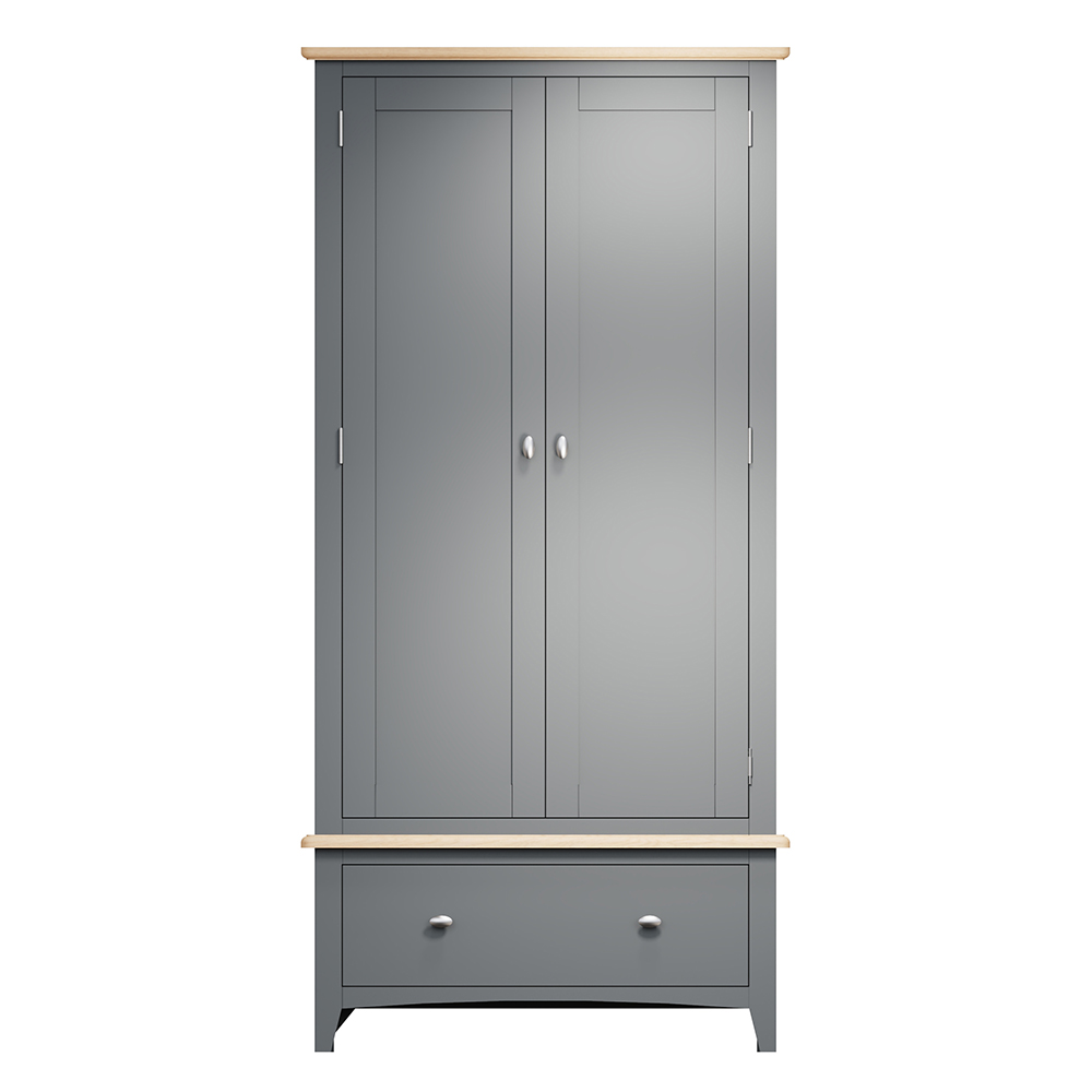 Hurstley Grey Wardrobe with Drawers