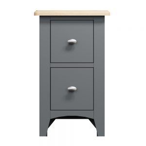 Hurstley Grey Small Bedside Chest