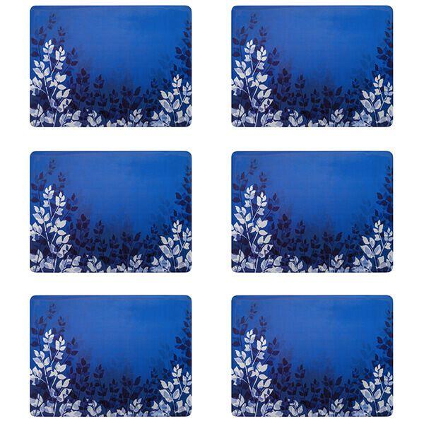 Denby Colours Set of 6 Placemats - Blue Foliage