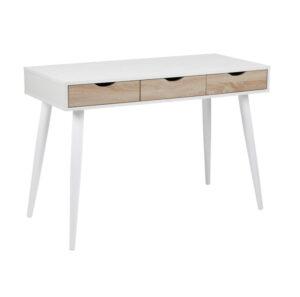 Mercury Desk White/Wild Oak