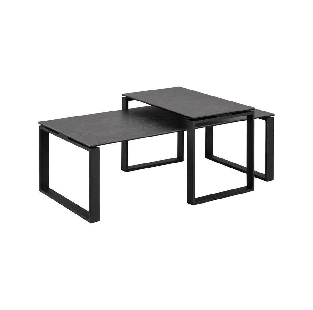 Katrine Coffee Table & Lamp Table Set -  Black