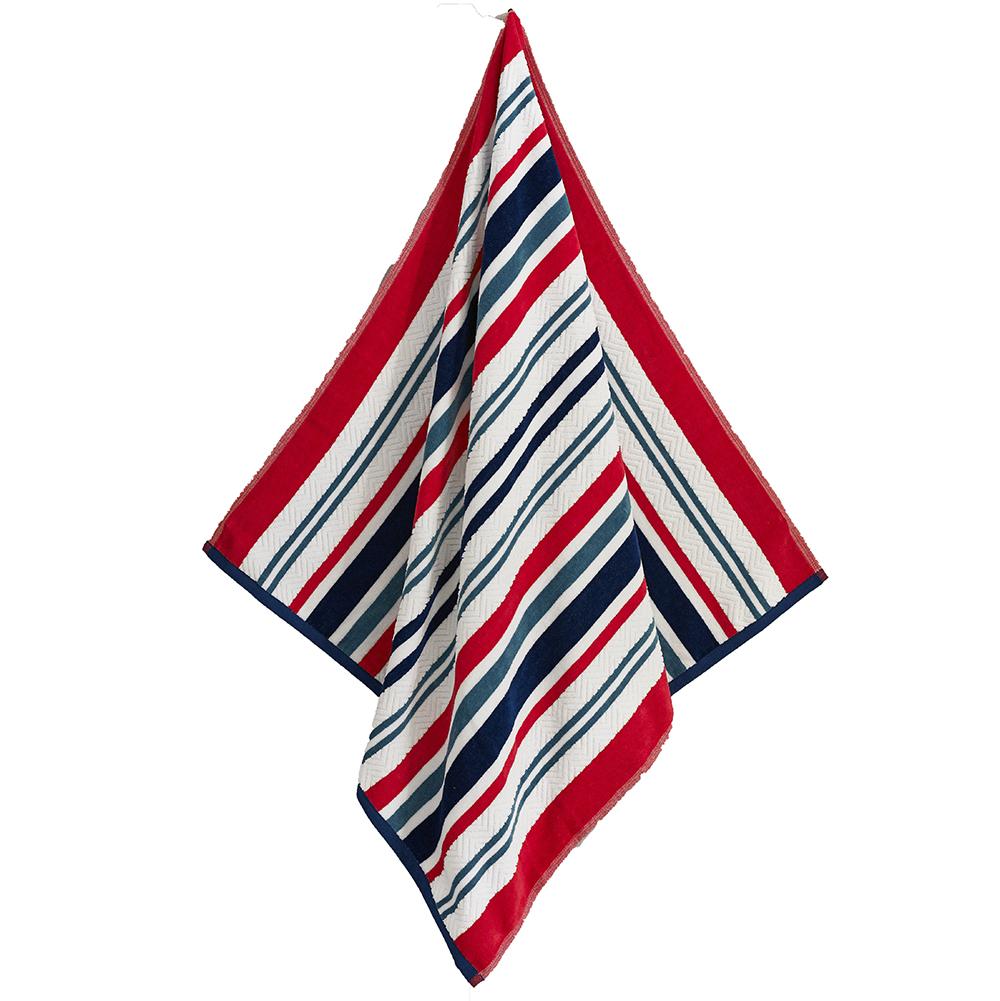 Deyongs Marbella Stripe Blue Beach Towel