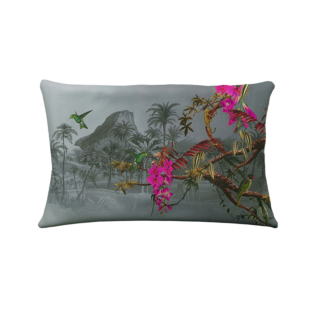 Ted Baker Hibiscus Standard Pillowcase Pair - Charcoal