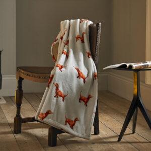 Deyongs Dachshund Printed Flannel Towel 130x180cm