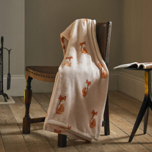 Deyongs Shy Fox Printed Flannel Throw 130x180cm