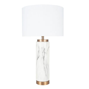 Carrara Marble Effect Ceramic Table Lamp