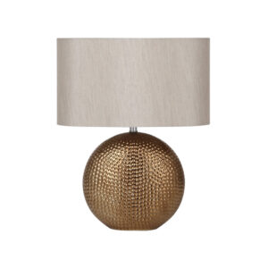 Bronze Dot Textured Ceramic Table Lamp