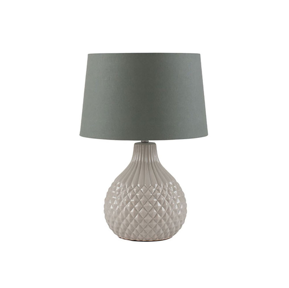 Grey Geo Ceramic Table Lamp