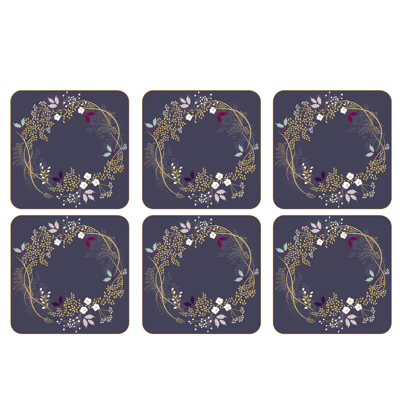 Sara Miller London Portmeirion Garland Coasters Set of 6