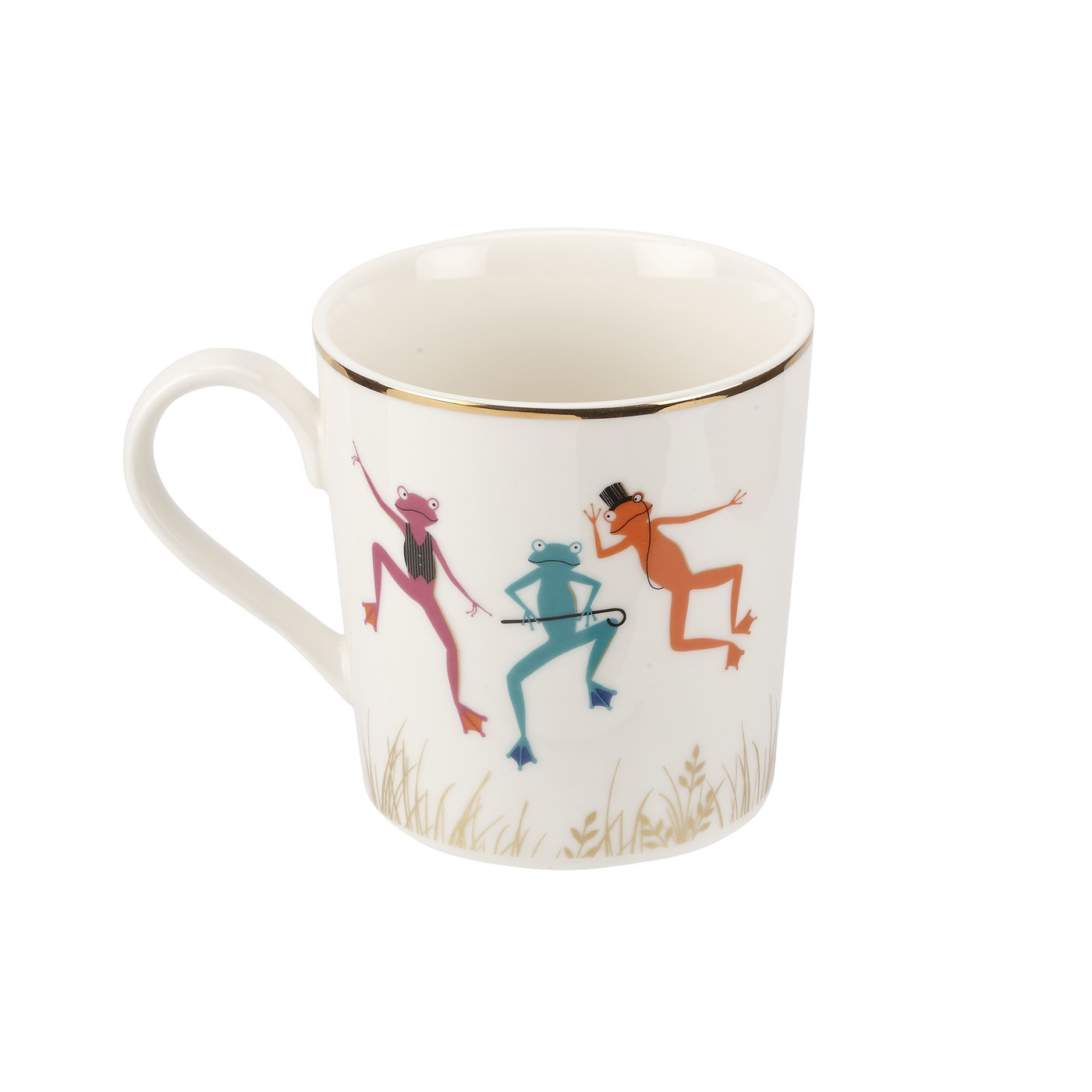 Sara Miller London Portmeirion Piccadilly Mighty Fine Frogs Mug