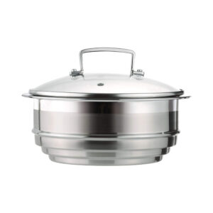 Le Creuset Stainless Steel Multi Steamer Insert with Glass Lid