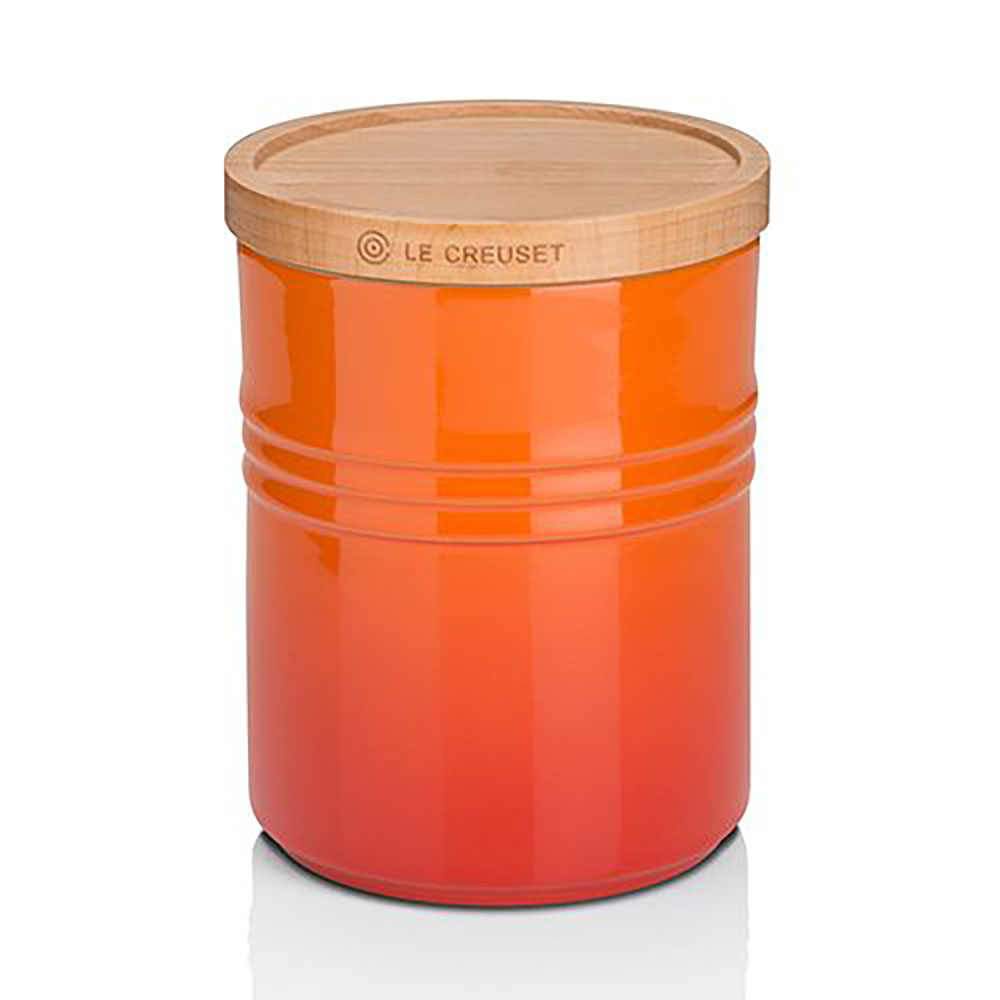 Le Creuset Stoneware Medium Storage Jar - Volcanic