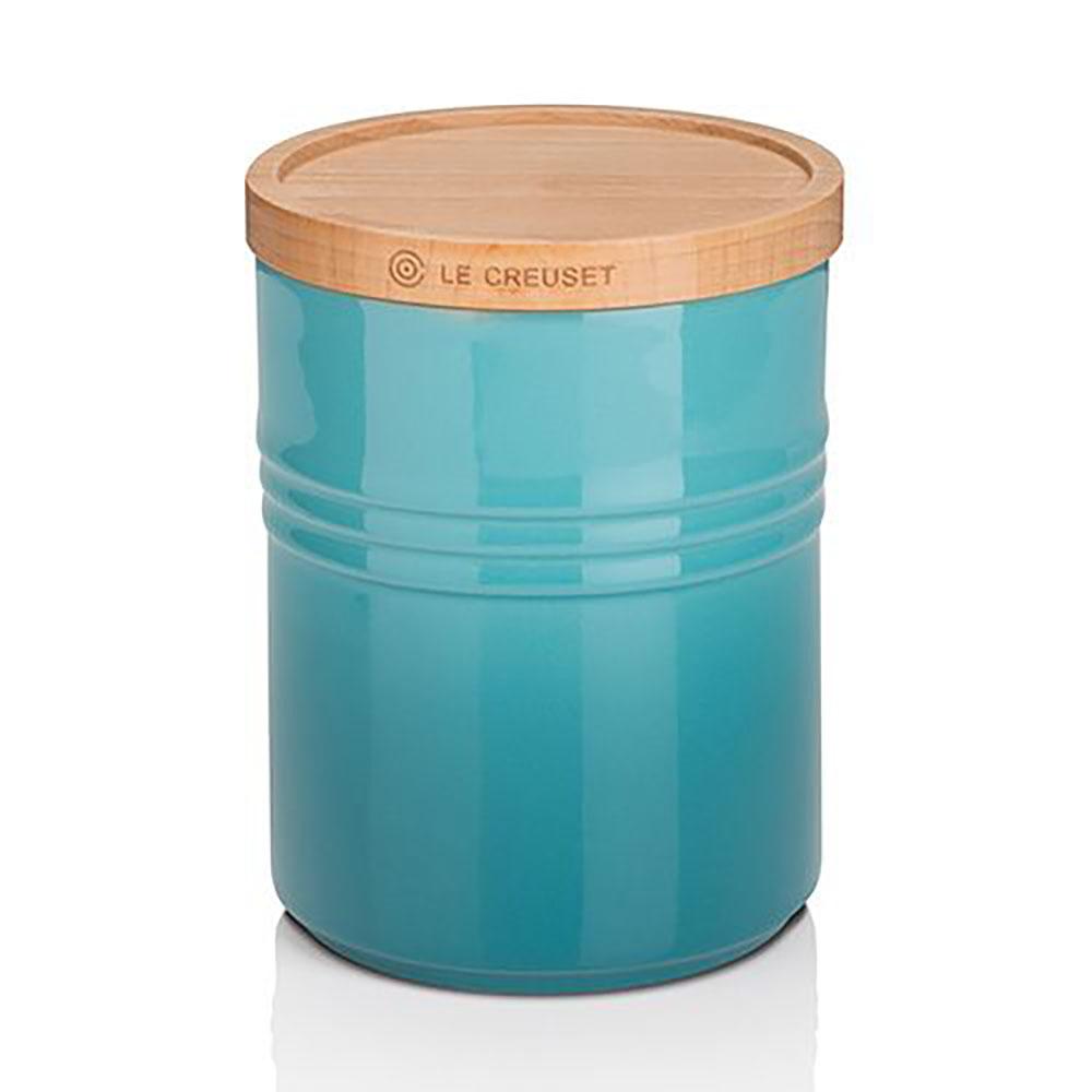 Le Creuset Stoneware Medium Storage Jar – Teal