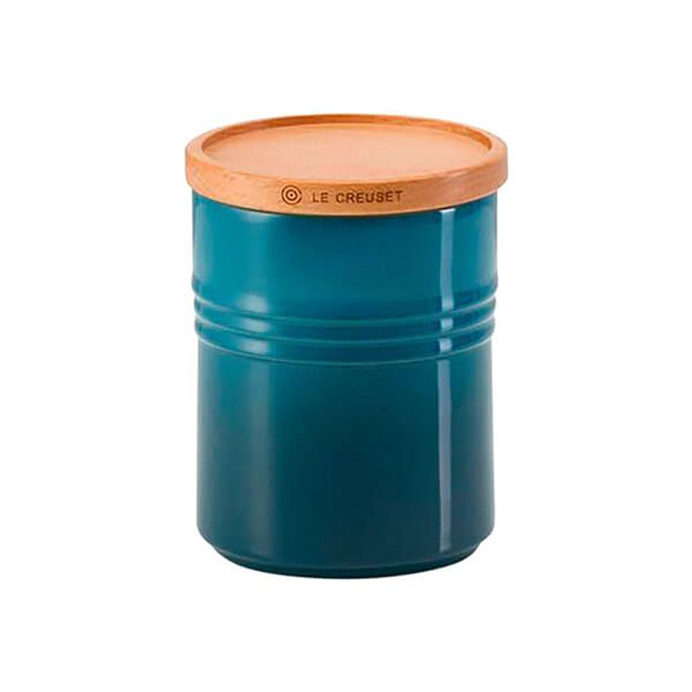 Le Creuset Stoneware Medium Storage Jar - Deep Teal