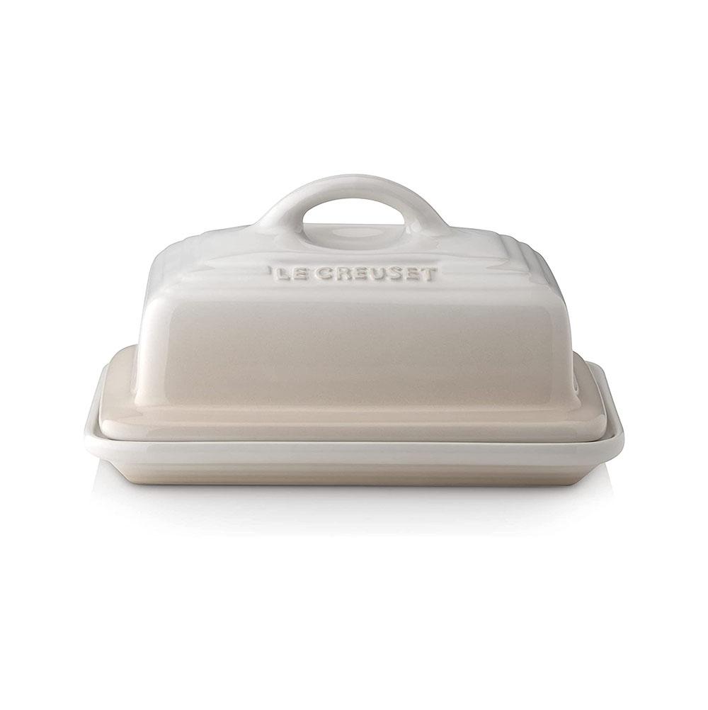 Le Creuset Volcanic Stoneware Butter Dish - Meringue