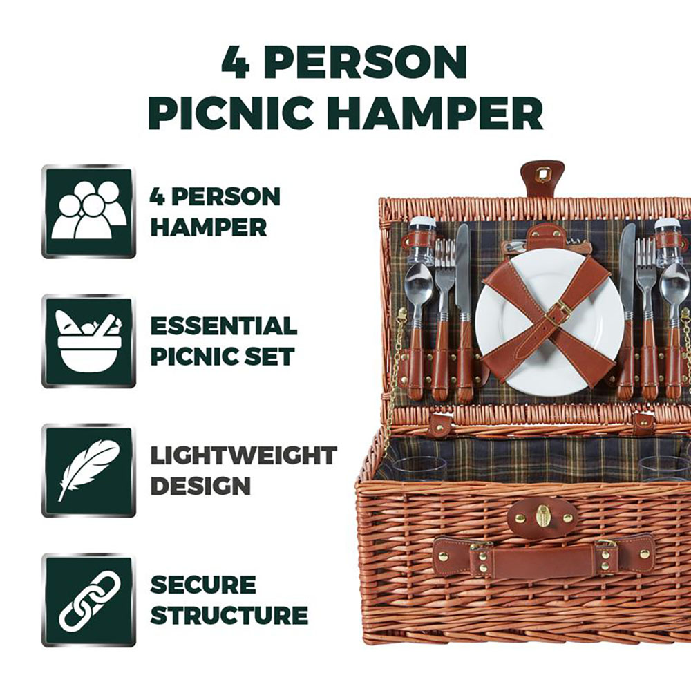 Heritage 4 Person Picnic Hamper