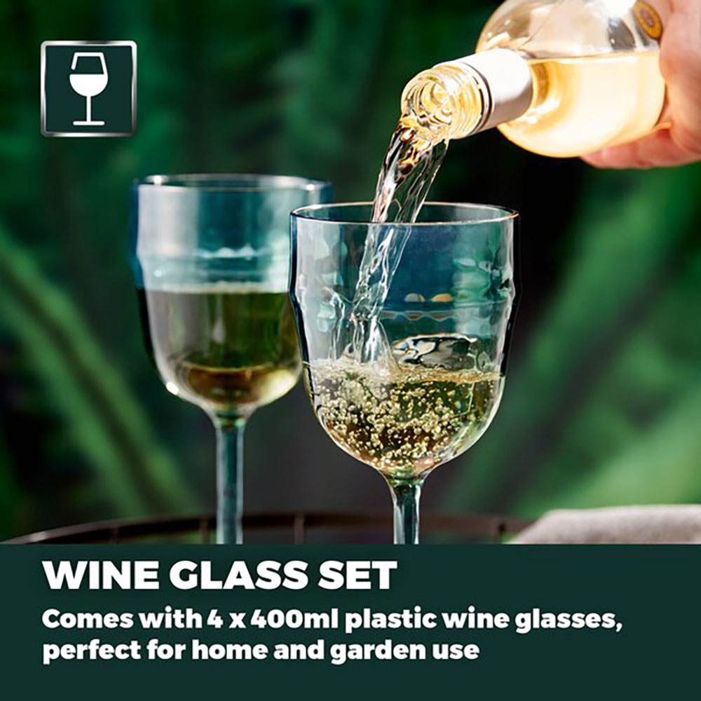 Fresco Reusable Wine Glasses Set of 4