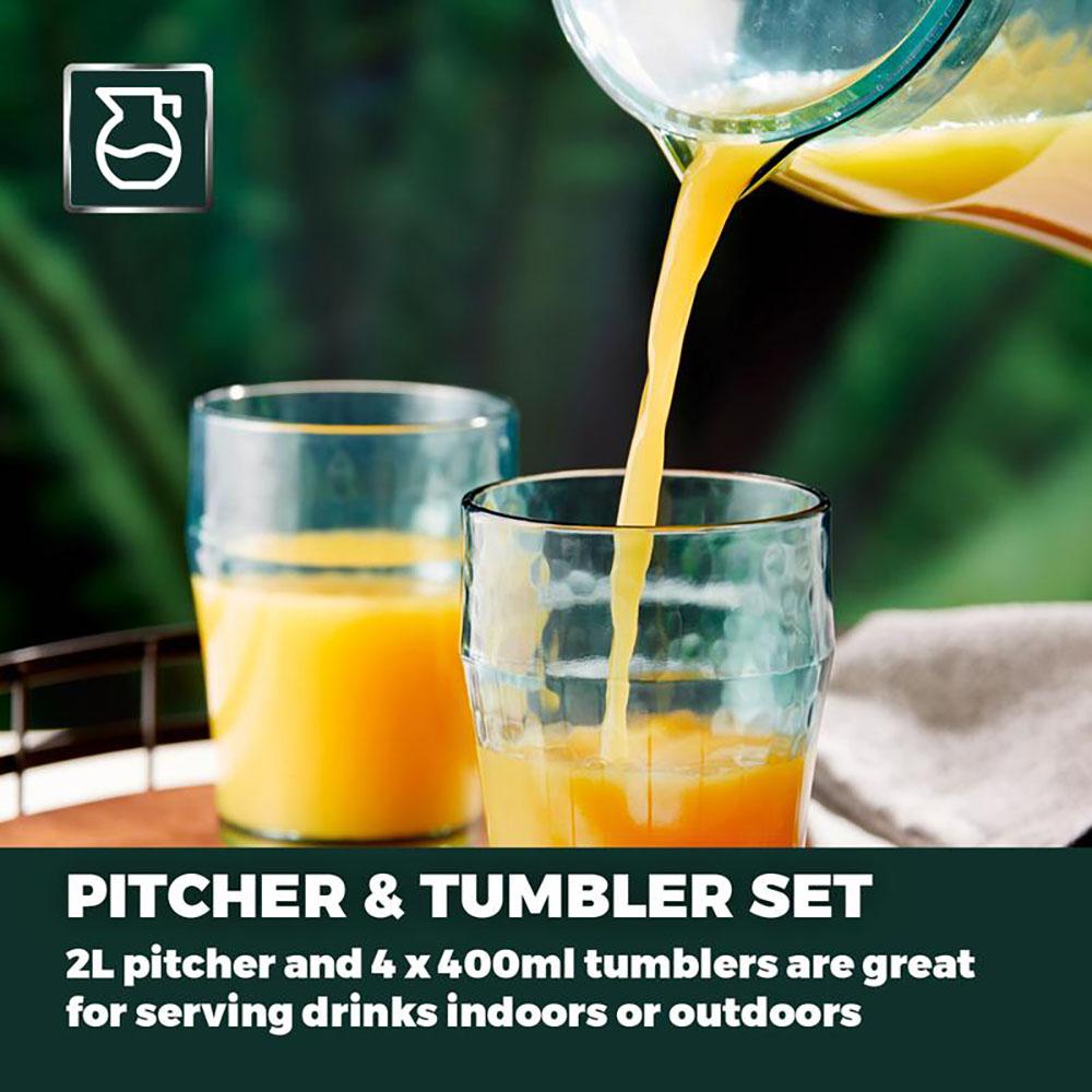 Fresco Reusable Plastic Pitcher and Tumbler Set