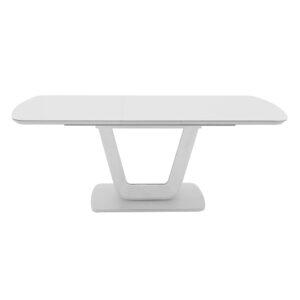Lazio Dining Table 120/160 – White Gloss